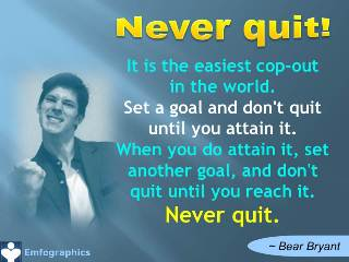 Never quit quotes Emfographics Emotional Infographics